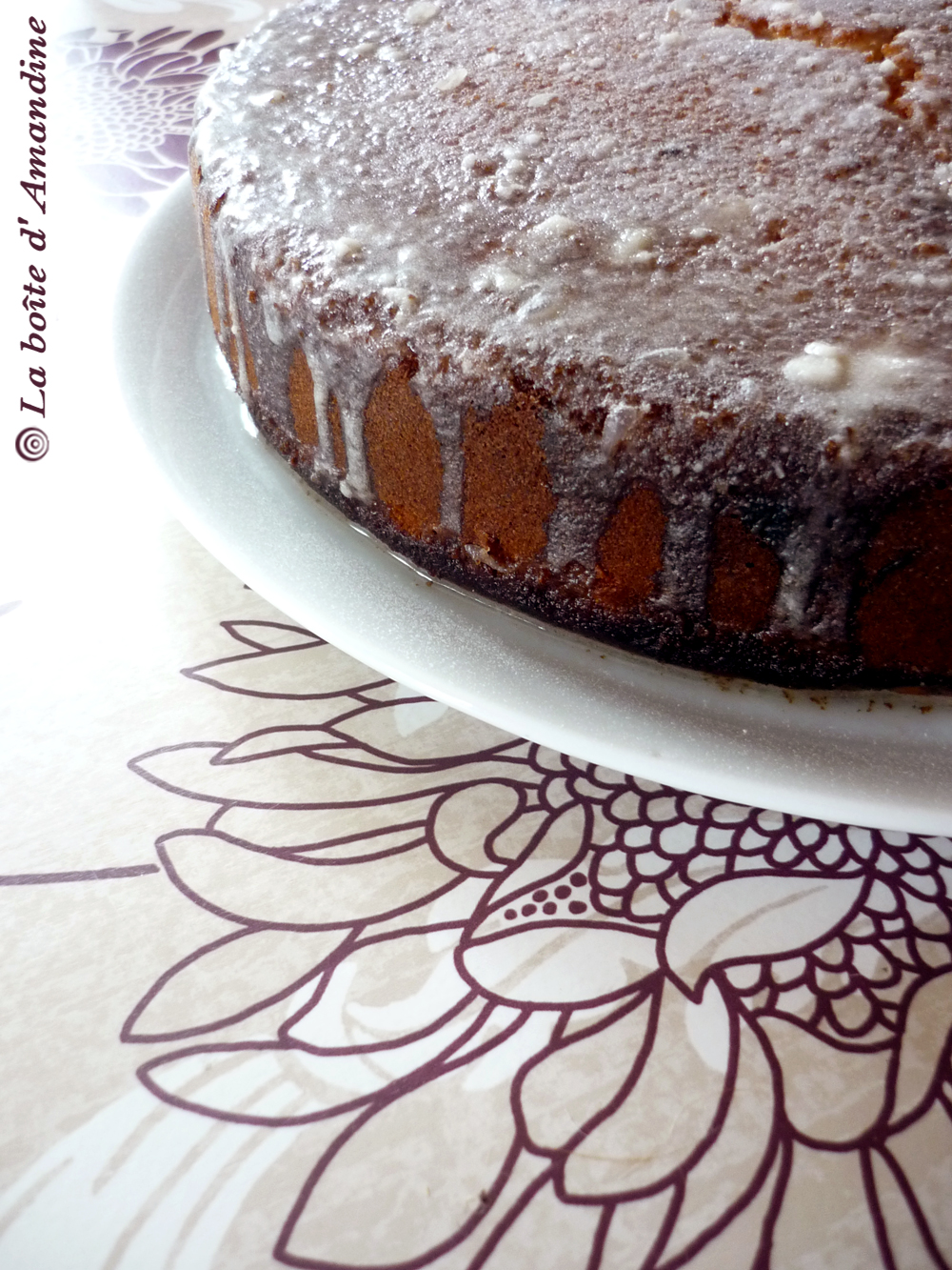 photo de Gâteau glacé citron amandes