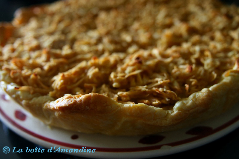 photo de Tarte pommes amandes