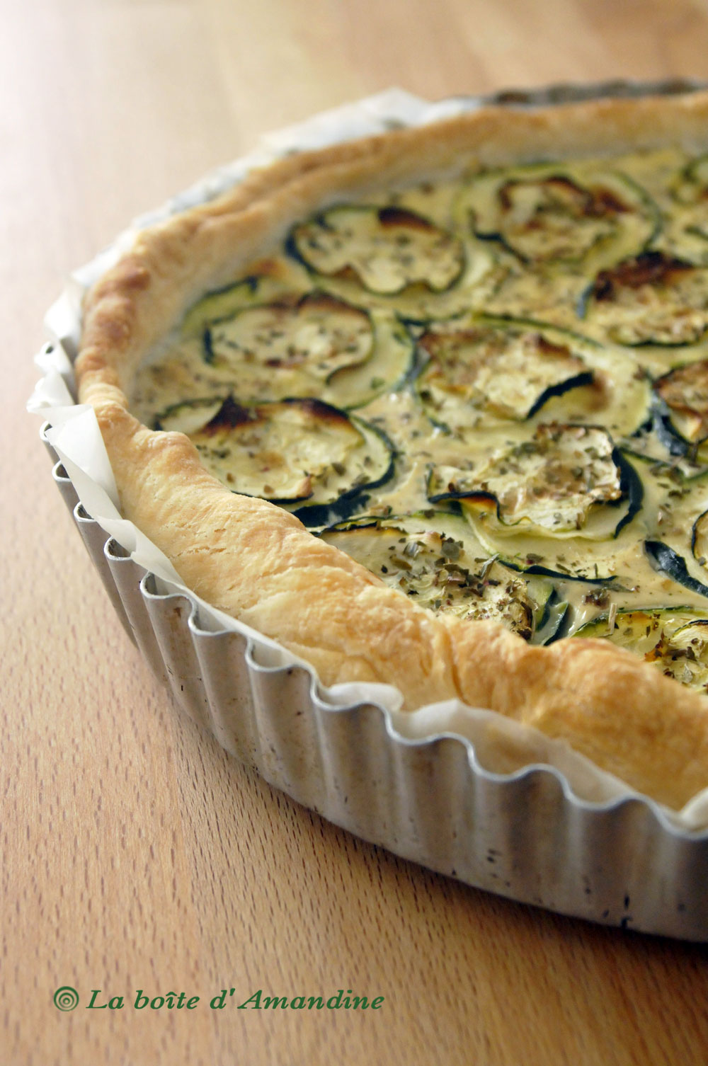 photo de Tarte courgette feta ricotta