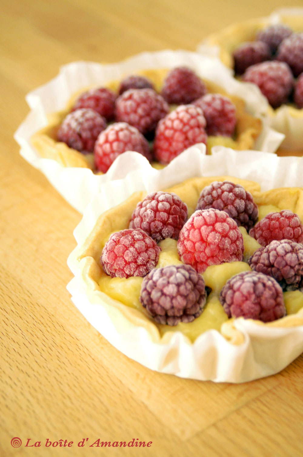 photo de Tartelettes citron framboises